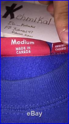 Supreme Blue Box Logo Crewneck Sweater Hoodie Royal Blue Rare Medium Mens
