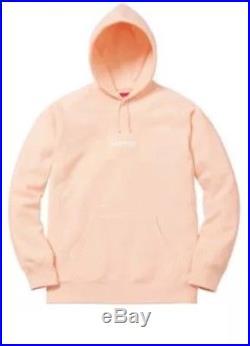 Supreme Box Logo 2016 Peach Sweatshirt BOGO Hoodie Sz SMALL RARE