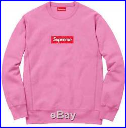 Supreme Box Logo BOGO Crewneck Sweatshirt Pink Size M Medium