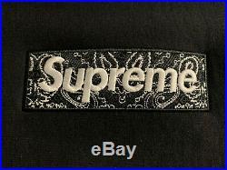 Supreme Box Logo Bandana Hoodie Size LARGE Black FW19 100% AUTHENTIC
