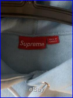 Supreme Box Logo Bandana Hoodie Size LARGE Heather Grey FW19 100% AUTHENTIC