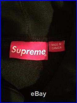 Supreme Box Logo Black Hoodie Medium