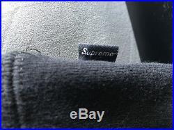 Supreme Box Logo Black Lime Green Sweatshirt Hoodie Medium Fw17
