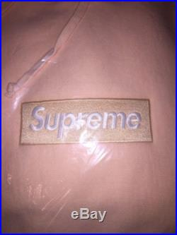 Supreme Box Logo Bogo Hooded Sweatshirt PEACH FW16 Size Extra Large XL