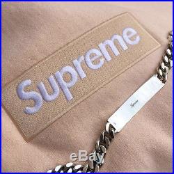 Supreme Box Logo Bogo Hoodie Peach Ua