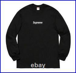 Supreme Box Logo Bogo L/S Tee Black XL 2020 In Hand