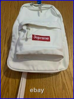 Supreme Box Logo Canvas Backpack White FW20 FREE SAME-DAY SHIPPING