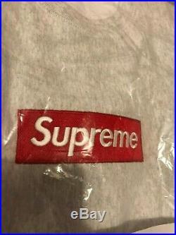 Supreme Box Logo Crewneck BOGO Ash Grey M Medium FW18 100% Authentic