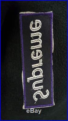 Supreme Box Logo Crewneck Black Purple Box Very Rare Size XL 1000% Authentic