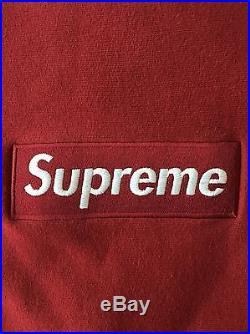 Supreme Box Logo Crewneck Burgundy Medium