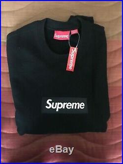 Supreme Box Logo Crewneck FW18 Black SZ Medium
