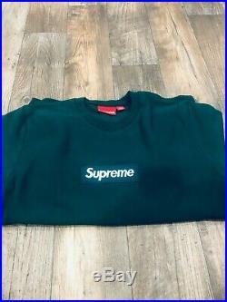 Supreme Box Logo Crewneck (FW18) Dark Green Large. BLACK FRIDAY SALE