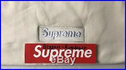 Supreme Box Logo Crewneck Natural tee off Shirt white New Blidge Nas Pullover DS