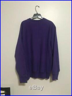 Supreme Box Logo Crewneck Purple On Purple 2005 Size M 9/10 Condition