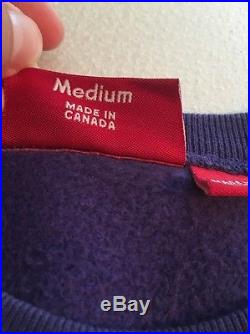Supreme Box Logo Crewneck Purple on Purple Crew Size Medium 100% Authentic RARE