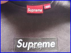 Supreme Box Logo Crewneck Size L Brown Sweatshirt (from Japan)