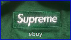 Supreme Box Logo Crewneck Size Medium Green F/W18
