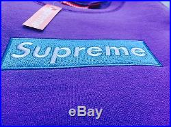 Supreme Box Logo Crewneck Sweater Sweatshirt Purple, size M