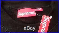 Supreme Box Logo Crewneck Sweatshirt Black Size L Large BRAND NEW bogo