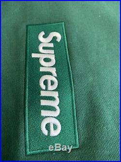 Supreme Box Logo Crewneck Sweatshirt (FW18) Green Large XL