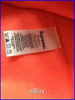 Supreme Box Logo Crewneck Sweatshirt (FW18) Orange Large L