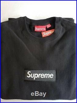 Supreme Box Logo Crewneck Sweatshirt Large Black BOGO FW18