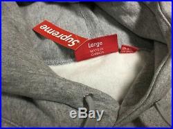 Supreme Box Logo Gray Orange Logo Nwt Authentic Supreme Hoodie Size Large Mens