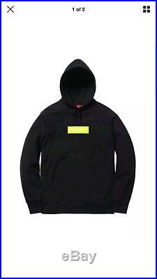 Supreme Box Logo Hooded Sweatshirt 100% Authentic- Medium Black Bogo Hoodie Fw17