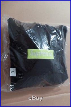 Supreme Box Logo Hooded Sweatshirt Black Lime BOGO Hoodie 2017 FW17 BRAND NEW