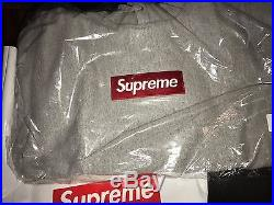 Supreme Box Logo Hooded Sweatshirt Heather Grey Medium FW16 Bogo