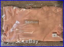 Supreme Box Logo Hooded Sweatshirt Hoodie Bogo Peach Size Small S Fw16 Brand New