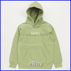 Supreme Box Logo Hooded Sweatshirt Hoodie FW16 not tee camp cap S-XL Sage