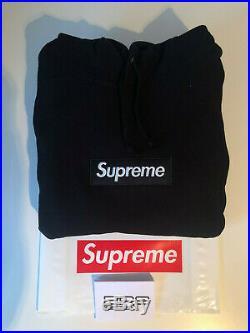 Supreme Box Logo Hoodie Black FW16 Size L (Bogo)