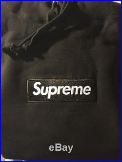 Supreme Box Logo Hoodie Black Size Large Rare