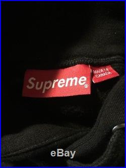 Supreme Box Logo Hoodie Black Size Large Rare