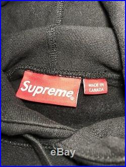 Supreme Box Logo Hoodie Black Size Medium 100% Authentic