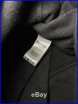 Supreme Box Logo Hoodie Black Size Medium 100% Authentic