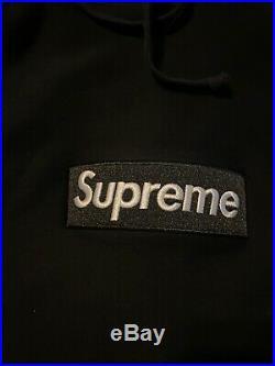 Supreme Box Logo Hoodie Black Small Sweatshirt AUTHENTIC