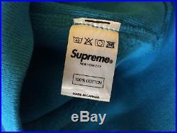 Supreme Box Logo Hoodie Blue Size S