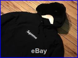 Supreme Box Logo Hoodie Bogo FW16 Black On Black Size Medium M