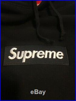 Supreme Box Logo Hoodie Bogo FW16 Black Size XL