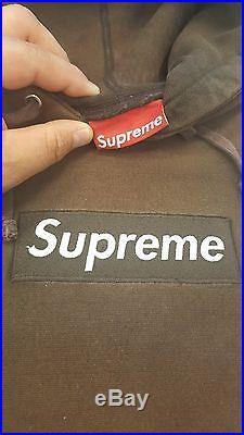 Supreme Box Logo Hoodie Brown Very Rare Size L 1000% Authentic