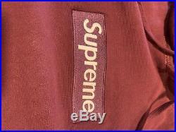 Supreme Box Logo Hoodie Burgundy/Wine