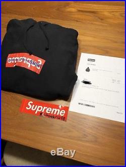 Supreme Box Logo Hoodie CDG Black Large