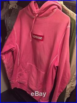 Supreme Box Logo Hoodie Crewneck Pink XL Tlop Paris Ss16