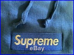 Supreme Box Logo Hoodie FW08 Royal Blue Size Medium