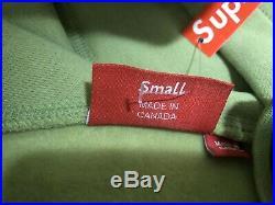 Supreme Box Logo Hoodie FW16 Sage Green Small