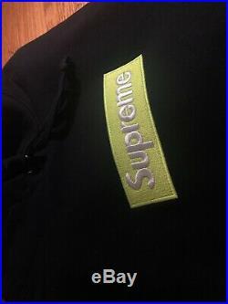 Supreme Box Logo Hoodie (FW17) Black/Green Large