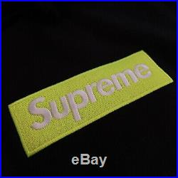 Supreme Box Logo Hoodie FW17 Black/Lime Large