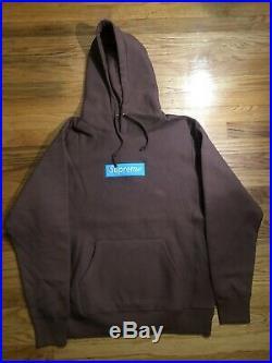 Supreme Box Logo Hoodie (FW17) Brown Rust Large